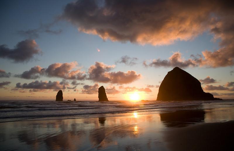 Sunset, Cannon Beach, Oregon