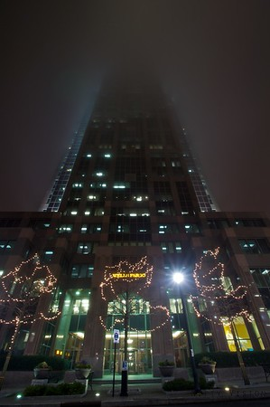 """Fog Obscured Tower"" Wells Fargo Tower Raleigh, NC"