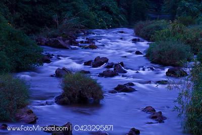 River across Munnar Town, India