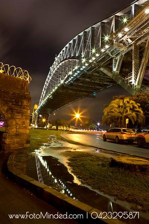 A classic shot of Sydney Harbor Bridge