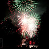 Dover Days Fireworks - Watching the fireworks from Greely's Landing as the grand finale explodes over Sebec Lake in Dover-Foxcroft Maine.