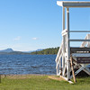 No Lifegaurd on Duty - The lifegaurd stand at Peaks-Kenny on Sebec Lake in Dover-Foxcroft Maine.