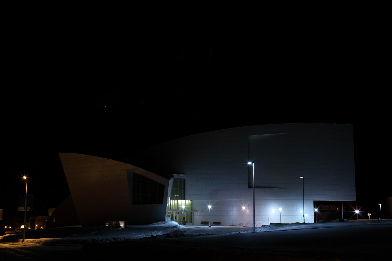 Museum of the North with Crescent Moon