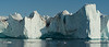 Grounded icebergs at the mouth of the Ilulissat Icefjord, Greenland