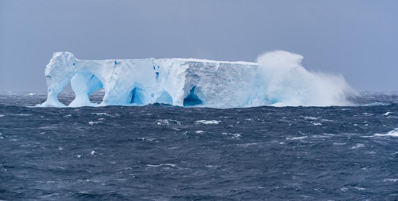 Icebergs near the Balleny Islands, Ross Sea, Antarctica