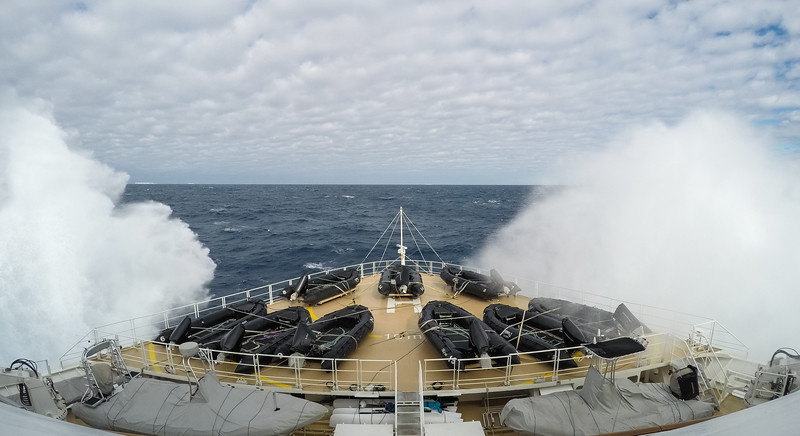 Rough seas in the Ross Sea