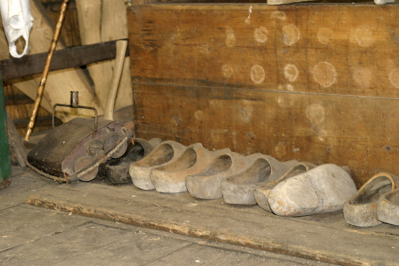 Wooden shoes used by inhabitants