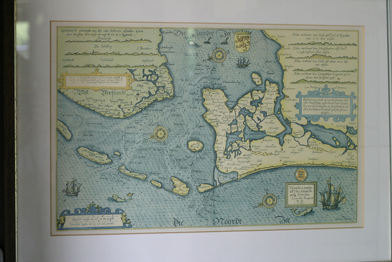 Old map of the north of Holland in the 17th century. Most of the water shown here has been reclaimed by now.