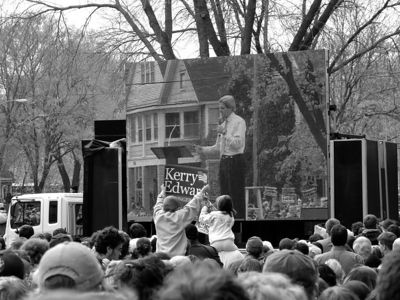 John Kerry Rally, Madison Wisconsin
