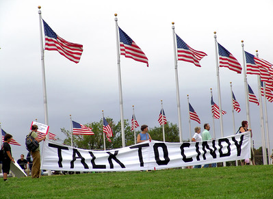 Protests on Capitol Hill for Cindy Sheehan