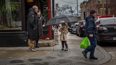 Big Umbrella, Little Girl