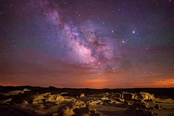 Bisti Badlands Milky Way
