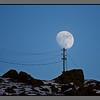 Moon on a pole<br /> Power line to Nyksund