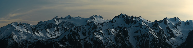 Olympic Mountain Sunset