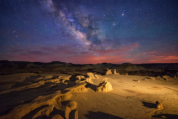 Bisti Badlands Milky Way