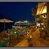Christinas café at night