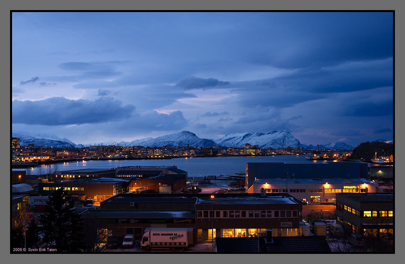 Mid day twilights<br /> The town bay, Bodø