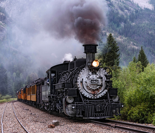 The Durango & Silverton Narrow Gauge Railroad is internationally renown for its picturesque setting. Original steam engines pull the passenger cars through the Rocky Mountains and down along the Animas river -the only un-dammed river that flows into the Colorado River Basin.