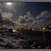 Moonlit night over Nyksund