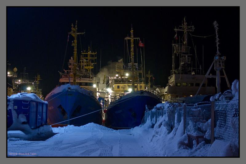 Frozen harbour<br /> Kirkenes