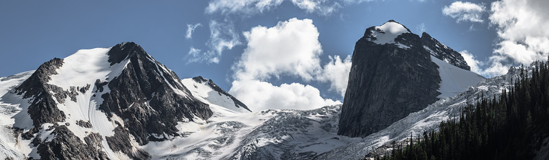 Panorama of Dramatic Glacier in Canada