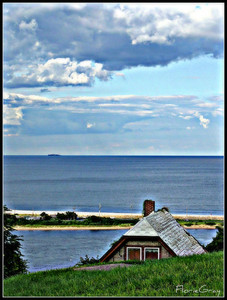 Playful House, Highlands, NJ  From the Twin Lights lighthouse; overlooking the Navesink River, Sandy Hook and the Atlantic Ocean