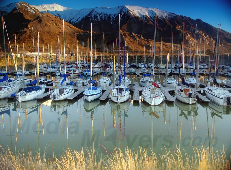 Great Salt Lake Marina Winter