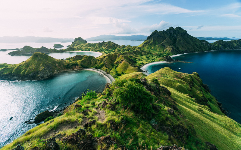 Up the Hill - Palau Padar - Flores, Indonesia
