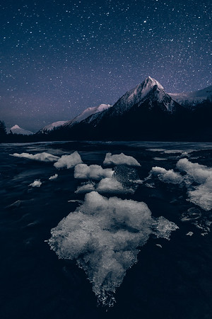 In the Night of Wilderness - Portage Glacier - Anchorage, Alaska