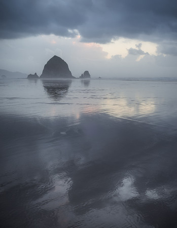 Holding on to the Light - Haystack Rock, Oregon