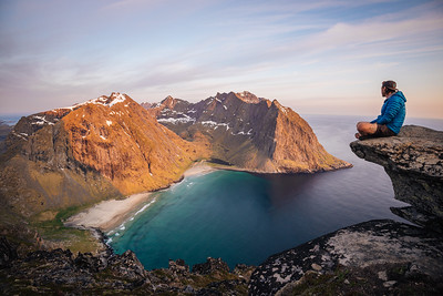 If You Need Me, I'll Be Here - Kvalvika - Lofoten, Norway