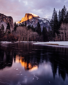 Sunset on Half Dome - Yosemite, California