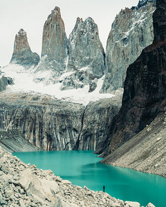 In Front of the Towers - Mirador Lake - Patagonia, Chile
