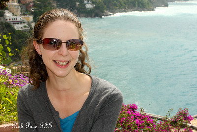 Emily enjoying the morning - Positano, Italy ... May 24, 2013 ... Photo by Rob Page III