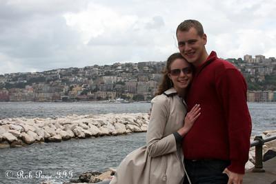 Rob and Emily along the Napoli waterfront - Naples, Italy ... May 25, 2013