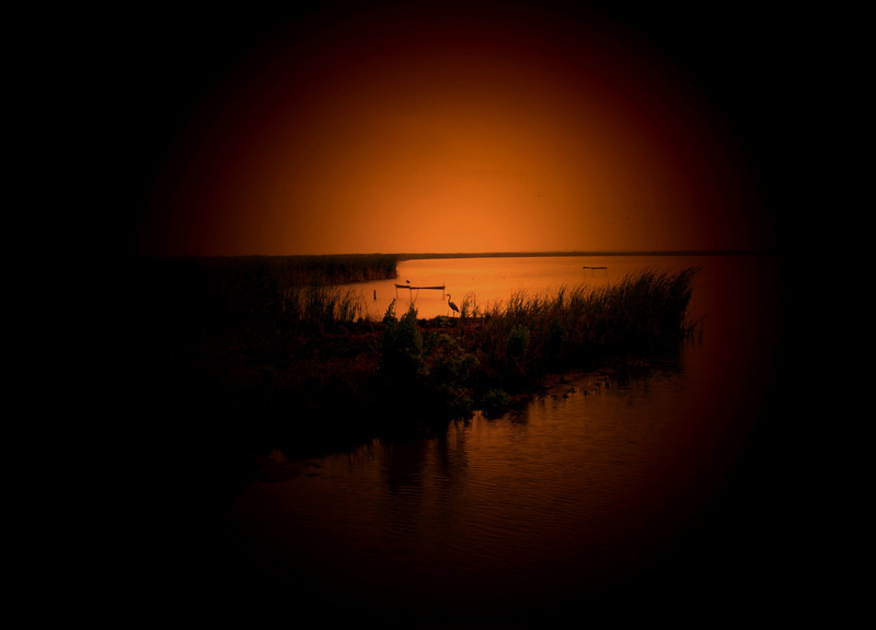Day is done! I have been experimenting with some light sources and a plug-in. Sunset in Port Aransas at the wildlife bird sanctuary near the water treatment plant.