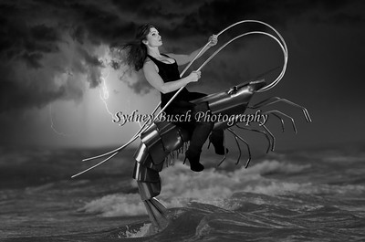 Shrimp and Crystal Final BW - Watermarked