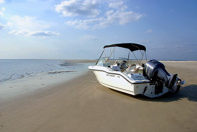 Beached Boat Image