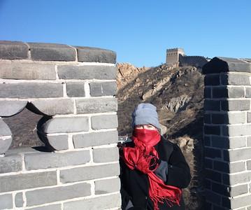 Sydney Bush  - freezing at the Great Wall