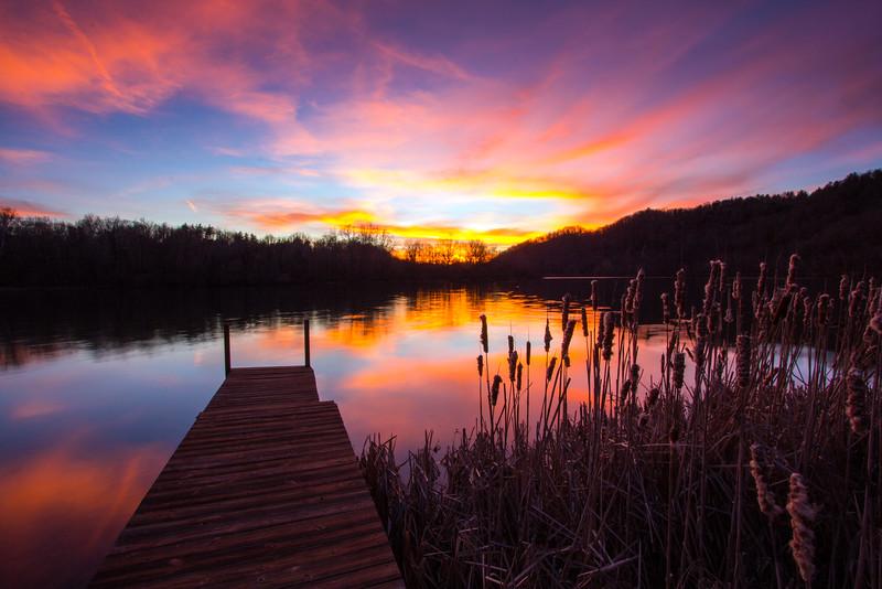 New River sunset