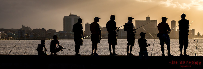 Fishing from the Malecon in Havana.
