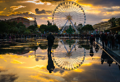 """BIG WHEEL REFLECTION"" (serial No.: 20131208-6440) La Coulée Verte, Nice, Côte d'Azur, France"