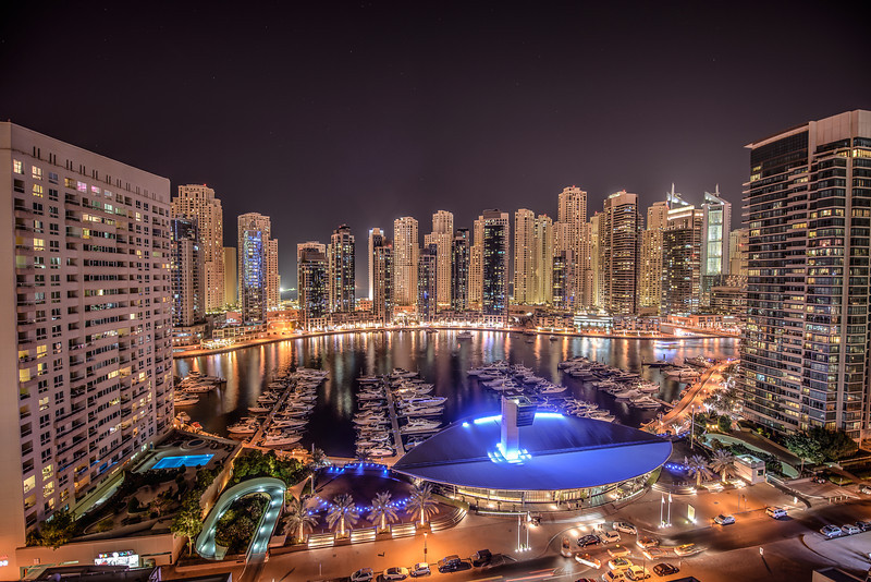 Dubai Marina Lights