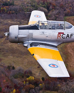Vintage Warbird over Fall Foliage -- Minnesota
