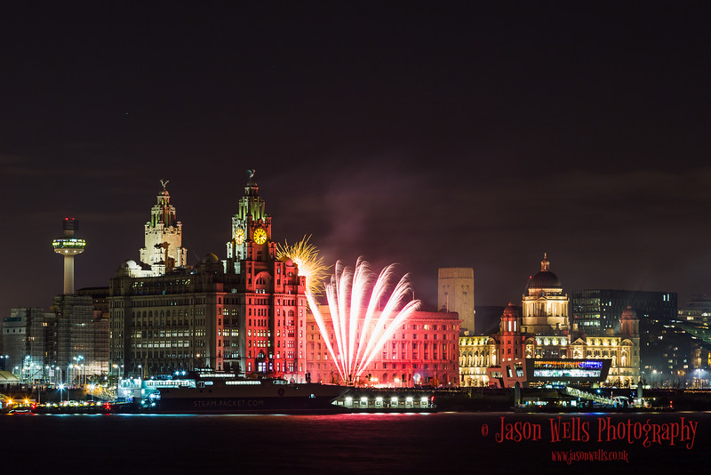Fireworks at Pier Head.