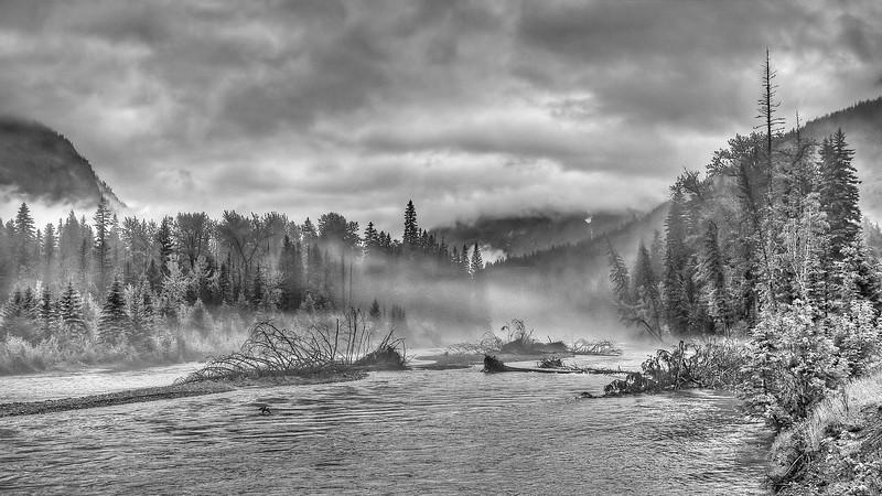 Misty River BW