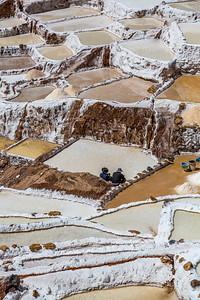 Maras in de Sacred Valley of the Incas, the salt-evaporation ponds 2013