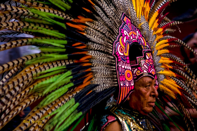 Indian in Parade in San Miquel de Allende Mexico