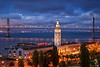 San Francisco's Ferry Building and Bay Bridge<br /> ref: 89db9d00-2fc0-4878-94cd-9c59e974c091