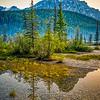 Sunset   Waterfowl Lakes